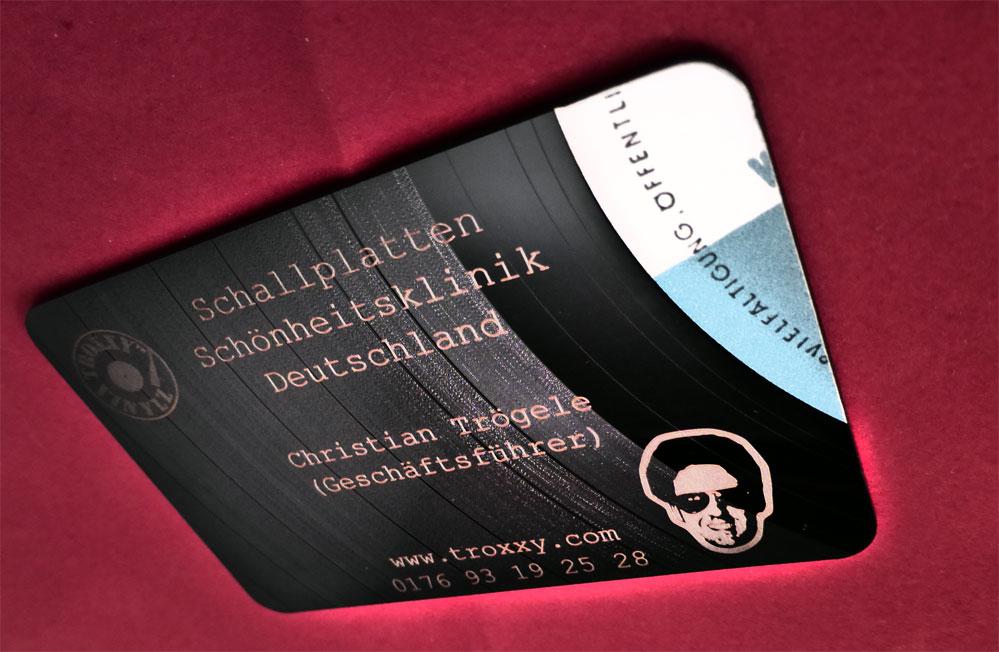 Visitenkarten aus Schallplatten 2