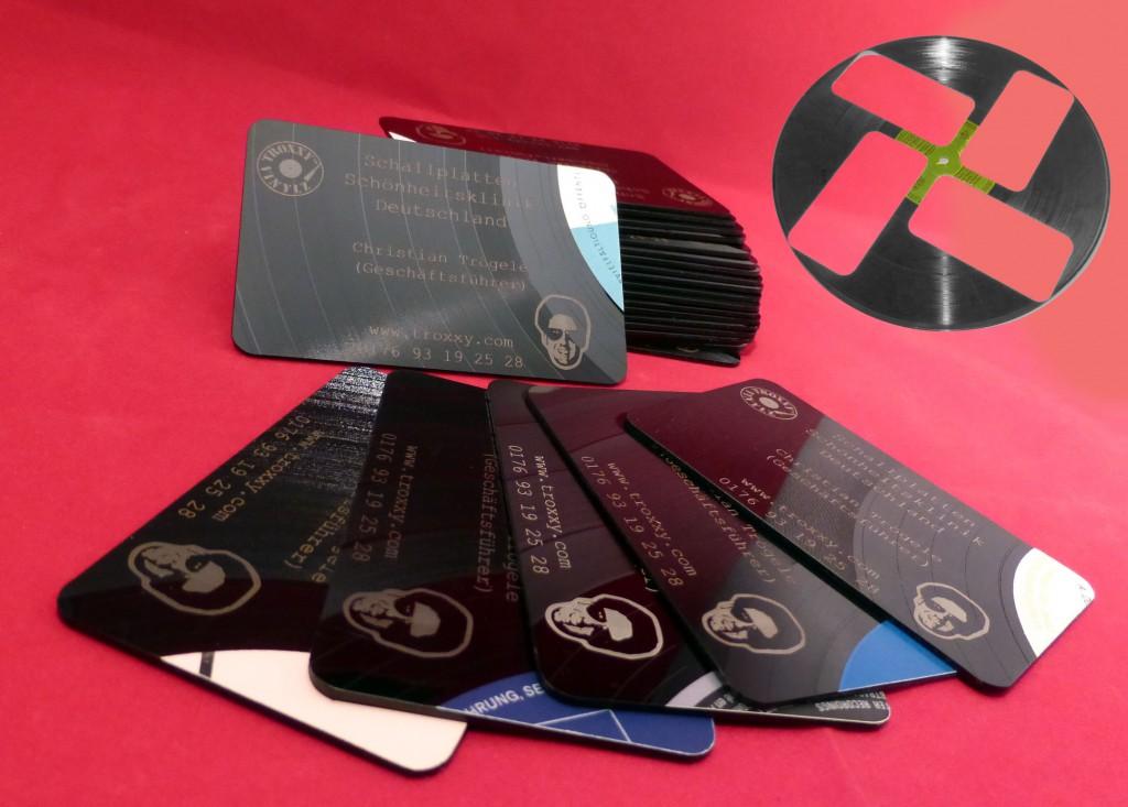 Visitenkarten aus Schallplatten 1